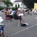 Open-Air-Probe vor dem Singstundensaal