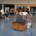 Erste C(h)oronaprobe Gruppe B in der Turnhalle